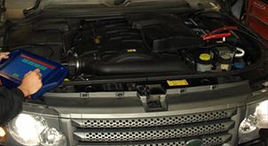 Range Rover Engine Service
